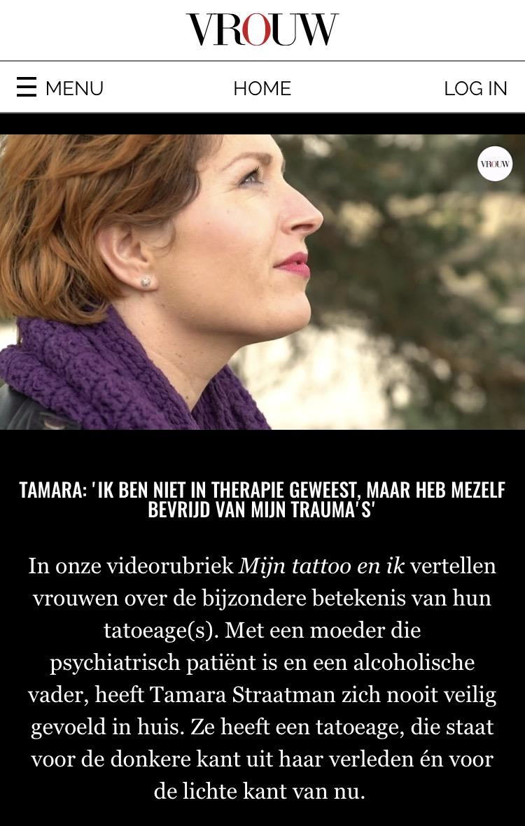 Een heel openhartig item op VROUW, Telegraaf