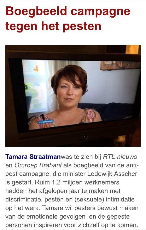 Tamara is boegbeeld van landelijke anti-pest campagne minister Asscher